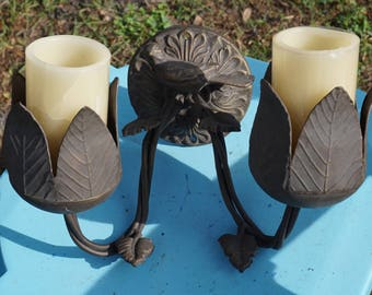 Beautiful Bird Candle Holder Made of Metal Attaches to the Wall Inside or Out Wonderful Gift Piece