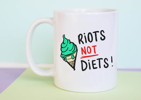Riots Not Diets Mug (With Gift Box)