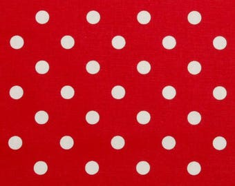 Premier Prints Fabric | Red Polka Dot Dot Fabric | Designer Fabric | Upholstery Fabric | red fabric | Fabric by the yard | polka dot fabric