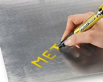 Indelible marker yellow Paint Marker pens 1 thick in permanent ink for steel iron plastic glass Etc.