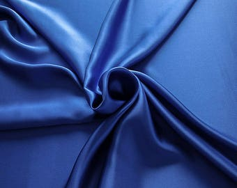 1712-141 - Crepe Satin silk 100%, width 135/140 cm, made in Italy, dry cleaning, weight 100 gr