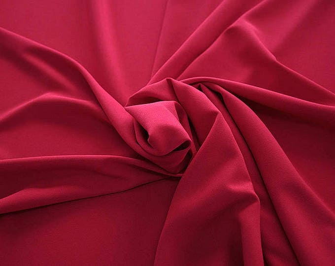 905102-Crepe 100% Polyester, width 150 cm, made in Italy, dry washing, weight 306 gr