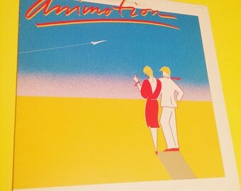 ANIMOTION: (Self-titled) - vinyl record album rock post punk new wave music band audio vintage retro the '80s 80's 80s eighties 90s '90s