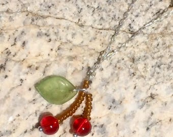 Cheerful cherries necklace
