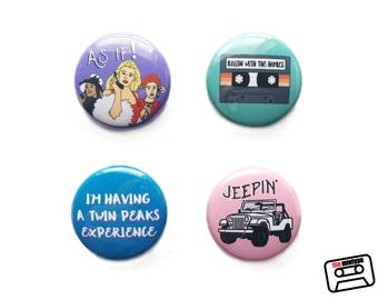 Clueless One Inch Pinback Button or Magnet Set