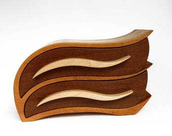 Bandsaw Box   Wooden Jewelry Box   Casket    Wooden Jewellery Box   Exotic   Wood Strip Box