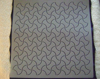 Sashiko Japanese Quilting/Embroidery Stencil 1 in. by 1.5 in Traditional Weights Background Motif Block/Quilting/239