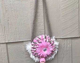 Girl handbag with Free Doll  kids bag toddler bag toddler coin purse kids fashion fashion girls purse kids purse toddler purse Girl Purses