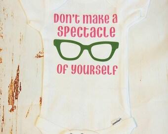 Glasses Onesie, Funny Onesie, Nerd Onesie, Nerdy Oensie, Spectacle Onesie, Glasses Outfit, Optometrist Onesie, Optometrist Gift, Nerdy Baby
