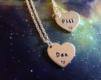 Dan and Phil Friendship Necklaces.