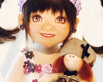 Special BJCD - 40cm face painted cloth doll