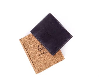 Oliver wallet - handcrafted with cork skin fabric