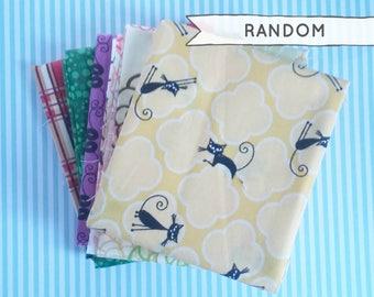 Random Fat Quarter Bundle Pack of 5 Fat Quarters / 100% Quilting Cotton / Random Selection