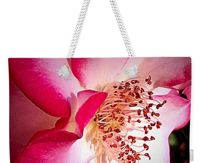 "Weekender Tote Bag ""Passionate Rose"""