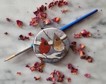Chocolate Art: Pair of Cardinals