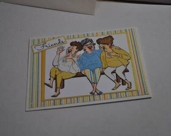 Friends Blank Handmade Card