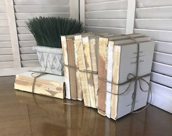 French Country Decor Farmhouse Vintage Style Unbound Books Home
