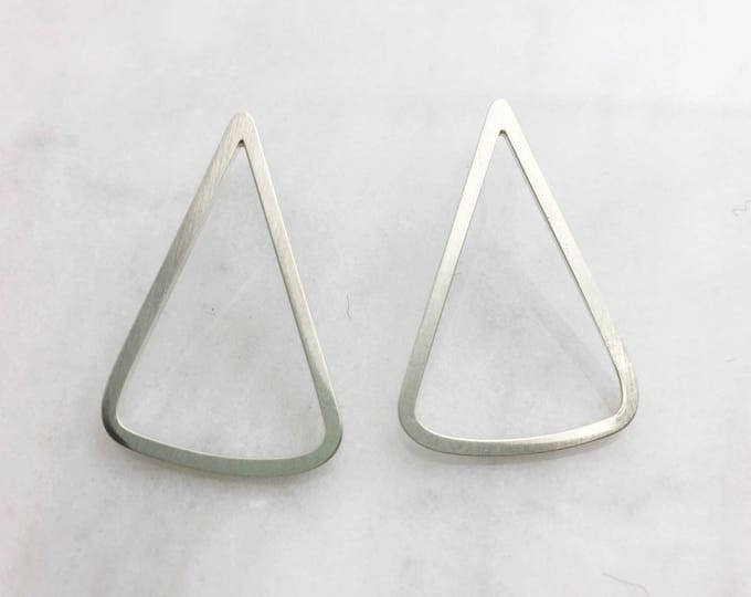 Sterling Silver Triangle Post Earrings