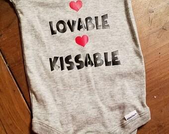 Kissable-huggable-loveable-valetines day shirt