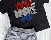 Yankee Doodle Dude Fourth of July Kids Shirt, Boys 4th of July TShirt, Muscle Tank, USA Kids Tank, July 4th Boys Tee, Dude Shirt Sibling Set