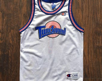 Vintage Tune Squad Space Jam Jersey Original 1996 Champion Jersey Youth Large mens womens xs s Taz ! Looney Tunes Devil Jordan Authentic