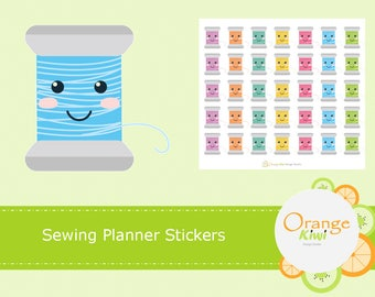 Sewing Stickers, Kawaii Stickers