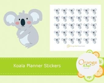 Koala Planner Stickers, Koala Bear Stickers, Planner Stickers