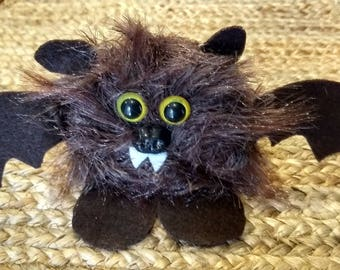 Cute Spooky Bat, Bat Felt Toy, Felted Animal Toy, Kids or Child's Halloween Toy, Felt Bat, Handmade Halloween Bat, Bat Gift Ready to Ship