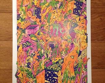A2 Alien print