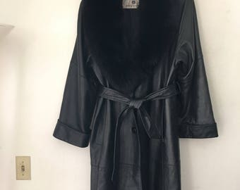 Long back Givenchy leather jacket , woman beautiful jacket size large .