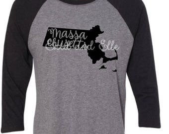 Massachusetts  t-shirt - Massachusetts state shirt - Massachusetts home t-shirt-Massachusetts baseball shirt-Massachusetts raglan shirt