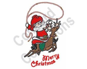 Santa - Machine Embroidery Design, Christmas, Reindeer, Merry Christmas