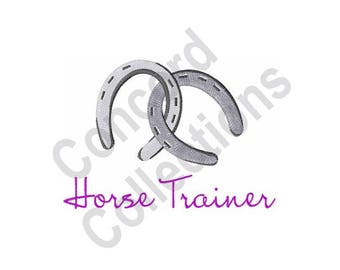 Horse Trainer - Machine Embroidery Design, Horse, Horseshoe