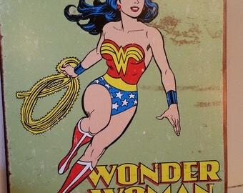 Wonder woman tin sign