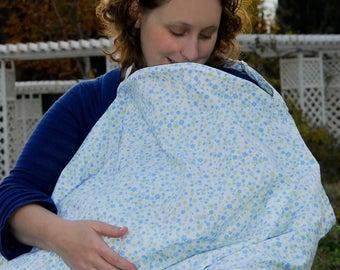 Nursing Cover   Blue Breastfeeding Cover Up   Breastfeeding Veil   Nursing Scarf   Hospital Gift New Mom   Nursing Scarf   Nursing Clothes