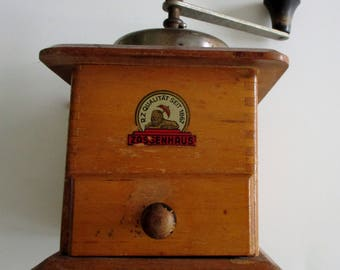 Zassenhaus Coffee Grinder, Vtg Coffee Grinders, Wooden Coffee Grinder, Coffee Bean Mill, Coffee Mill