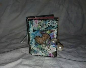 Mixed Media Heart Mini Journal