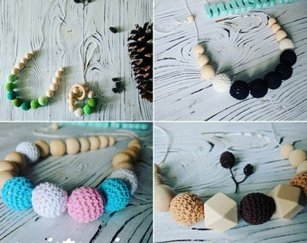 Nursing necklace / teething necklace / Baby Teething toy