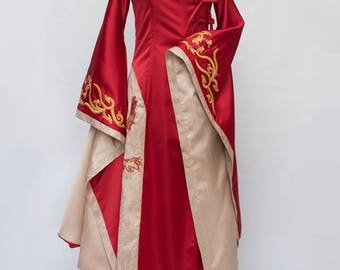 Game of Thrones Cosplay Cersei Lannister Dress Red