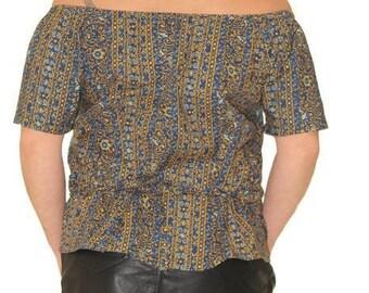 Novelty. Top woman bare shoulder Top spring Carmen neckline