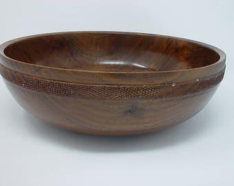 Wood bowl    Calif Claro Walnut Bowl    Wood serving bowl    #352