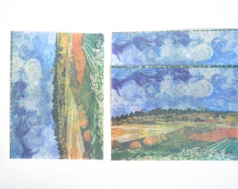 Field Translucent Watercolour Envelope Set, Letter Envelopes - LT026
