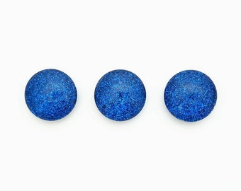 Royal Blue Glitter Magnets, Magnet Set, Glitter, Small Magnets, Party Favor, Refrigerator Magnets, Small Gift, Office Decor, White Board