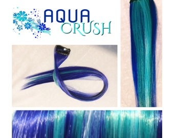 "AQUA CRUSH 18"" Set Clip-In Hair Extensions - 4 PIECES!"