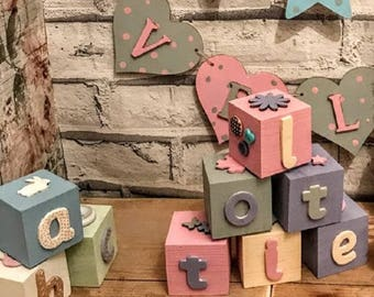 Baby blocks etsy personalised nursery baby blocks nursery decor nursery art baby gift baby shower baby girl baby boy negle
