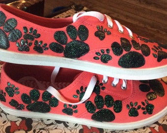 Sparkly Paw Print Shoes