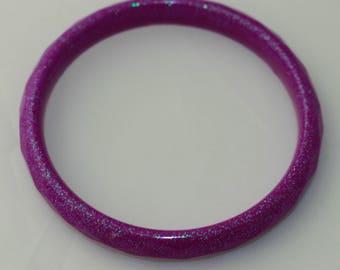SMALL purple beveled bangle