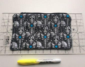Cybermen pencil case/ make up bag