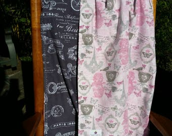 Pink Baby Girl - Oversized Swaddler - Swaddling Blanket - Handmade Baby Blanket - Ready To Ship - Toddler Blanket - Pink - Girl, Grey, Gray