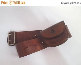 ON SALE Vintage RCMP Belt with Ammo Pouch